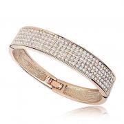 Bracelet Gold plated- Swarovski crystals